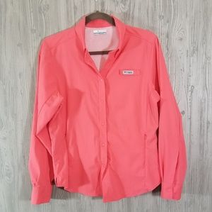 Columbia PFG Tamiami II Long Sleeve Shirt Size Med